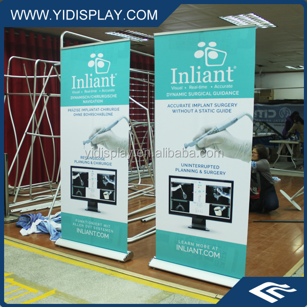 Custom Printed Convenient To Fix Pull Up Adversting Celebration Cost Banner With Telescoping