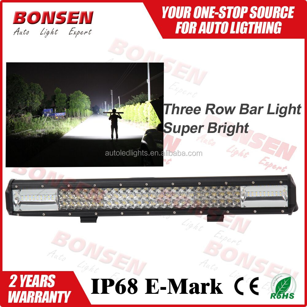 High Power 162w 23inch offroad led light bars 3 Row Straight 4x4 LED driving Light Bar