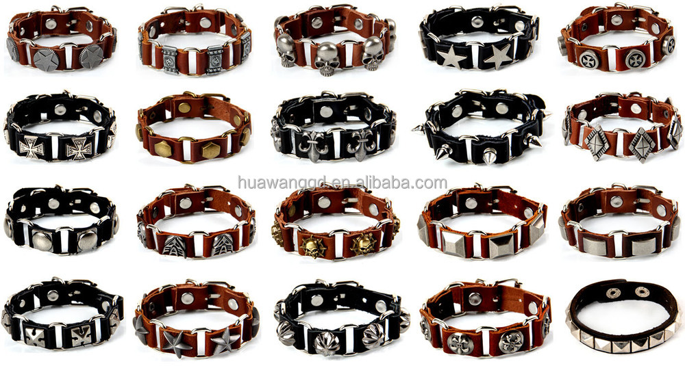 Fashion European Punk Braided Leather Bracelet for men