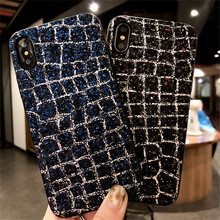 Luxury bling diamond glitter soft cell phone cases for iphone x 7 8 5 6 6S cover