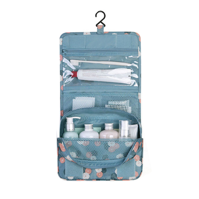 Women's hanging toiletry Eco beauty bag for <strong>travel</strong>