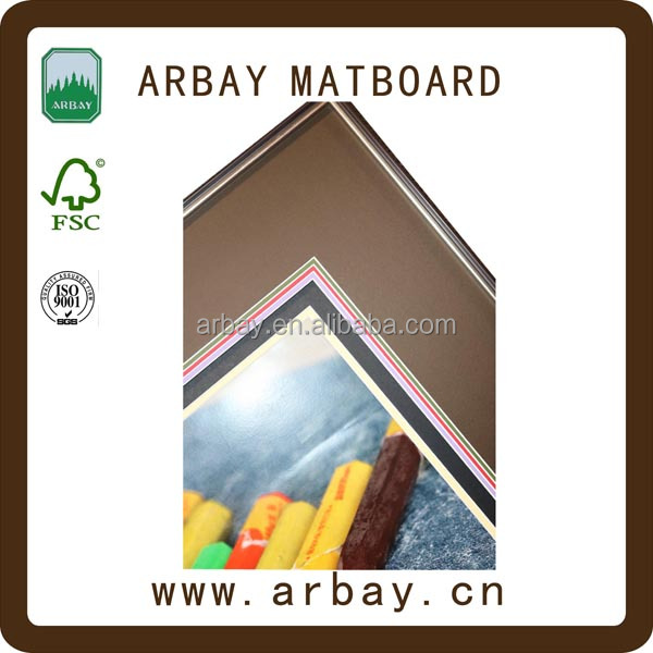 Wholesale 2.0mm thickness green core uncut 16x20 photo frame paper mats