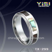 Fashion Women and Animal Sex Photo Tiger Finger Ring Tungsten Wood for Jewelry Making