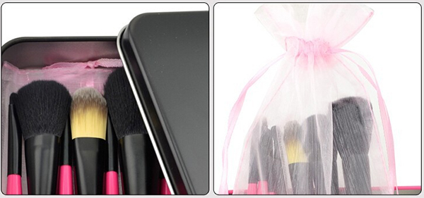 Professional Hot Pink Makeup Brush Set 7pcs Beauty Care Cute cosmetic Brush Set