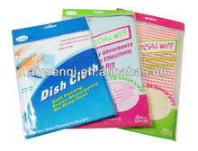 Chemical bond kitchen non-woven cleaning cloth/wipes/disposable dry cleaning wipes/restaurant dish cloth