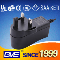 GVE Various plug ac dc 12v 1a adaptor with 3 years warranty