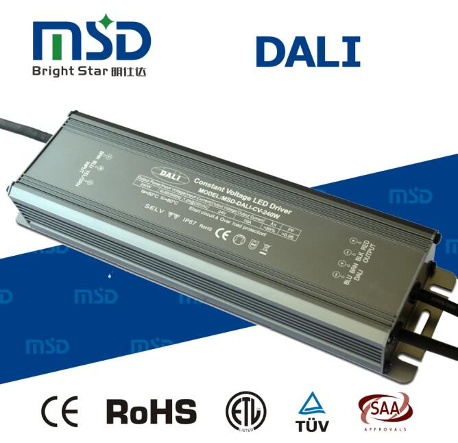 24vdc 240 w 24 v dc cv dimmable constant voltage dimming DALI LED driver 240w 24v