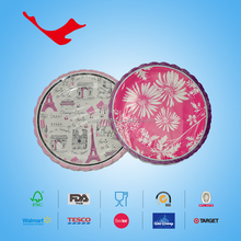 holographic lamination round fancy paper plate, printing machine round paper plate for party supplies