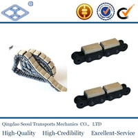 20A-G1 food light duty nylon rubber roller chain with elastomer profiles pitch 31.750mm d1 19.05mm