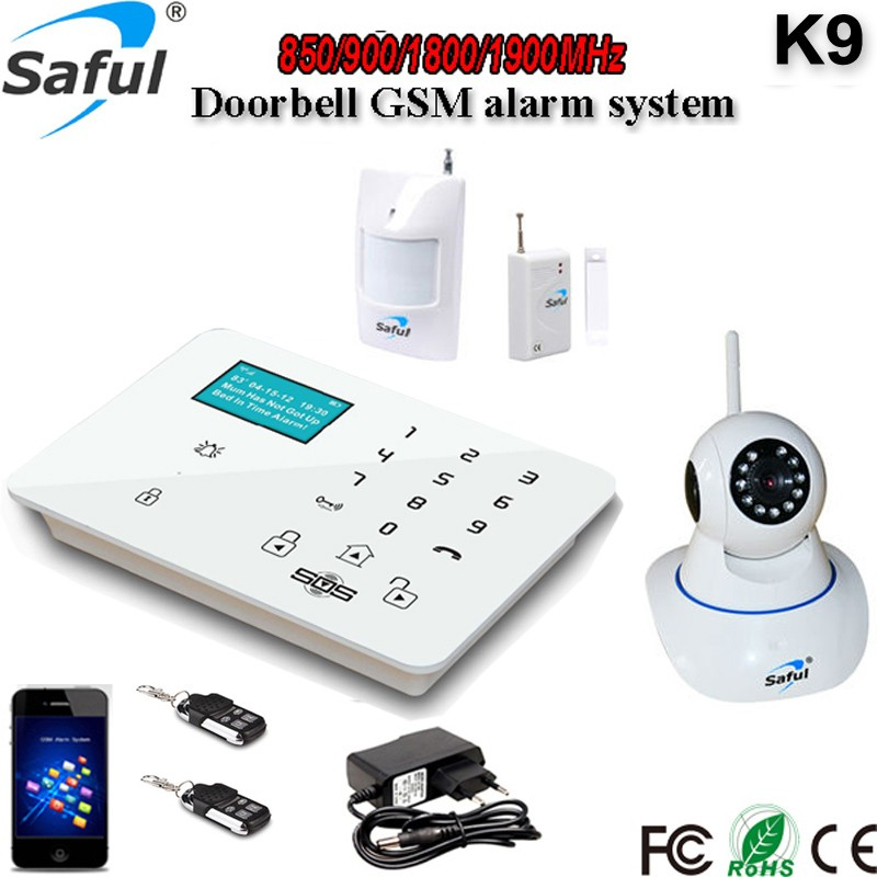 Saful K9 3G mini CCTV camera wireless wired 3G security alarm system sms home alarm system with sim card