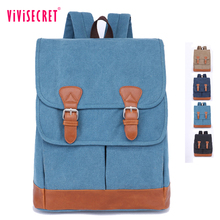 OEM large space outdoor sports vintage canvas hiking backpack eco-friendly schoolbag for teens