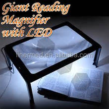 Hand free Standing Foldable LED lighted Magnifying glass