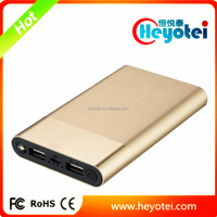 2016 New Hot Products 10000mah LED Light Aluminum Metal Slim Power Bank