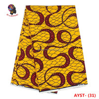 Gzmadison AYST-31 New pattern printed hollandai fabric African style wax print 100 cotton wax prints fabric with stones