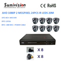 Hottest 8ch AHD 1080P 2 megapixel cctv camera system home security top 10 cctv dvr