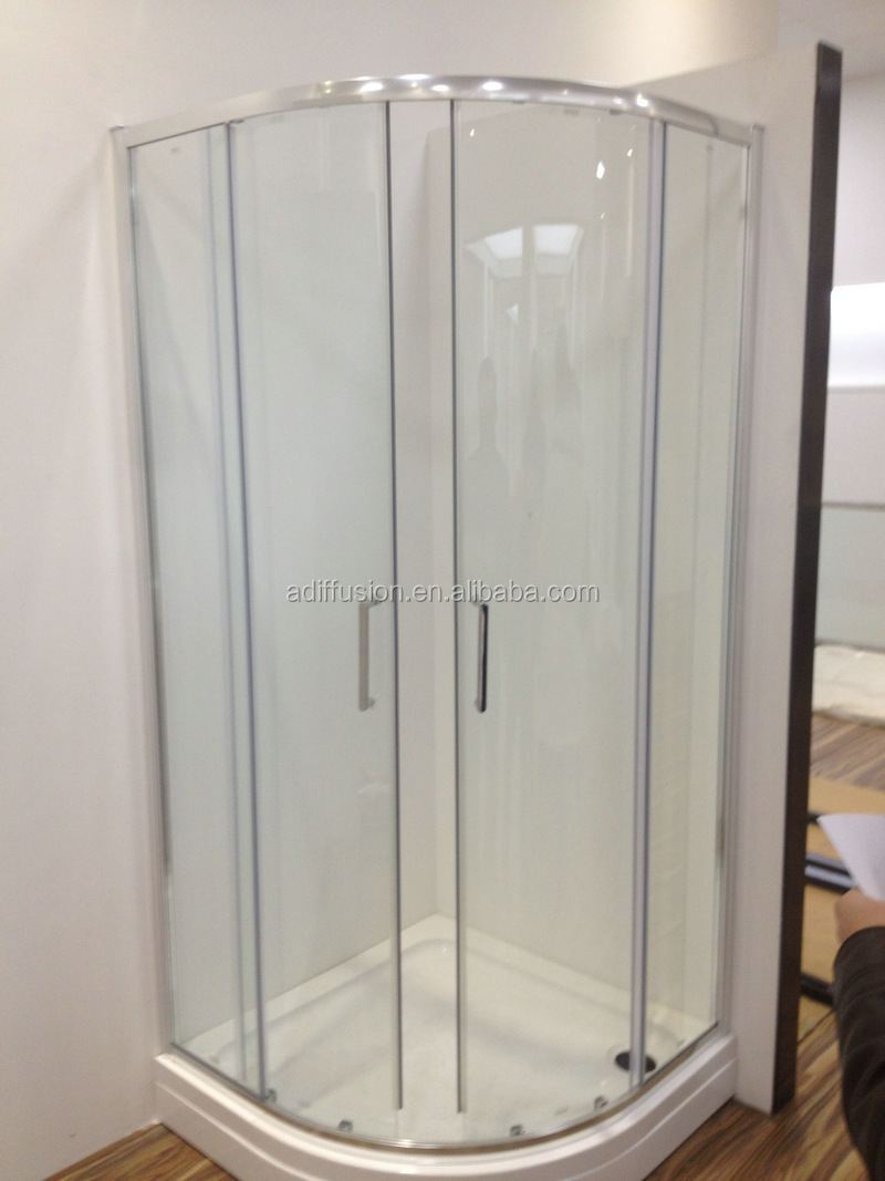 Patented Quick Installation Double Wheels Curved Glass