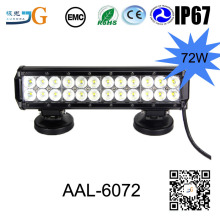 12Inch 72W Led Light Bar 12V 24V Motorcycle Led Bar Offroad 4X4 Atv Daytime Running Lights Truck Tractor Warning Work Light