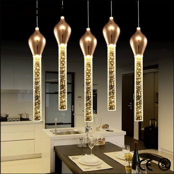Balcony decorative led bubble crystal chandelier dinning room ceiling light