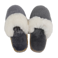 Wholesale wool ladies slippers plush velvet home cotton tow winter fashion warm flat shoes
