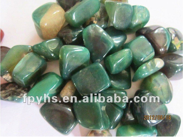 green natural agate stone for sale