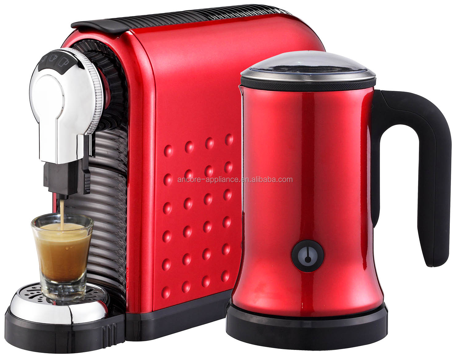 capsule coffee machine with milk frother