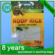 Factory High quality plant fertilizer Packaging Bag with handle/sealable plastic bag/agricultural products packaging