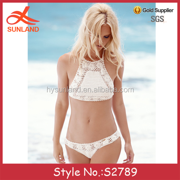 S2789 new bohemia style open hot girl sexy transparent photo white bikini