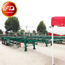 2017 brand new 20 or 40ft Container Truck Semi Skeletal Trailer Frame / Chassis from 20-80Tons