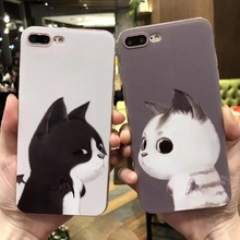 Novelty cute series 3D pattern case for iphone 7,Cat couple pattern TPU case for iphone 7/7plus