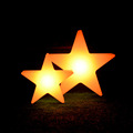 Illuminated Indoor Decoration Plastic Stars Led Five-Pointed Lighted table lamp