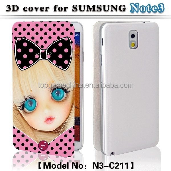 leather cell phone case for Samsung galaxy not3 battery cover case