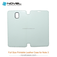 OEM digital Printing full size 3D sublimation pu leather shell for Samsung Note3