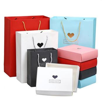 Wholesale Price with Stock and Small order Business solid black and white kraft gift bag paper bag