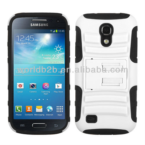 Hot Selling Belt Clip Holster & Rubber hard Case cover For Samsung Galaxy S4 mini i9190,3 in 1 design