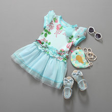 High grade new style korean cute children frocks designs o - neck girl patterns lace princess dress