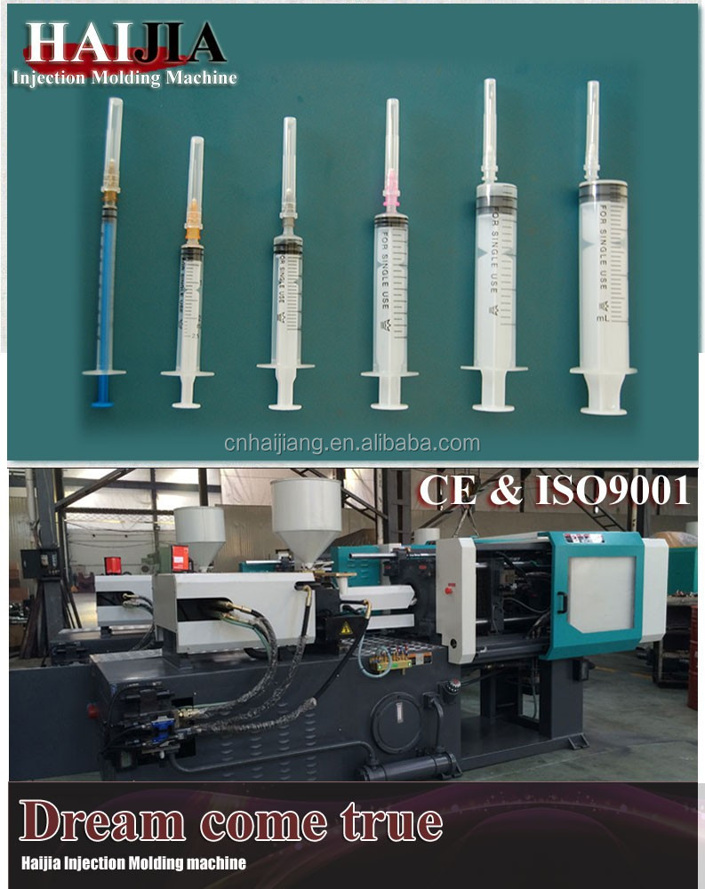 Automatic Medical disposable syringe injection molding making machine in Ningbo