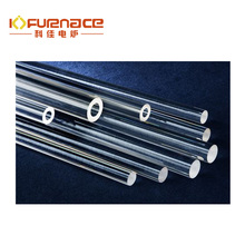 Customizable refractory thick wall clear quartz glass tube