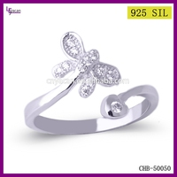 New Coming Butterfly 925 Sterling Silver Infinity Ring