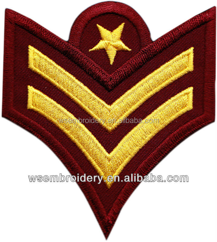 Cheap custom shoulder embroidery patch apply to police security sheriff