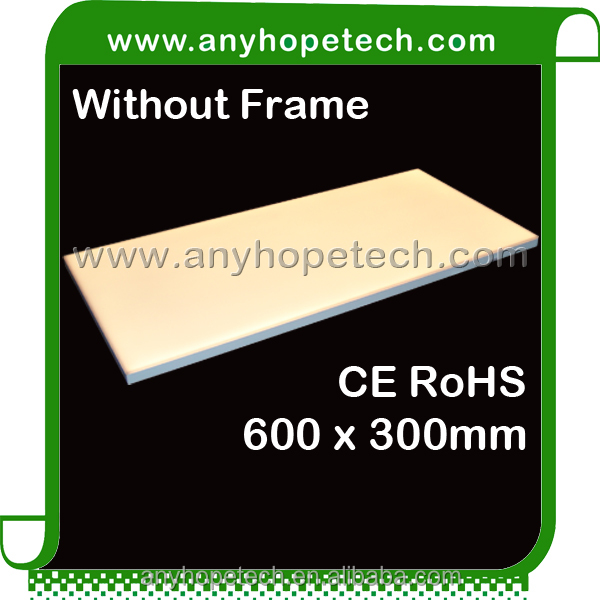 ETL 600x600mm CRI 95 frameless led panel light