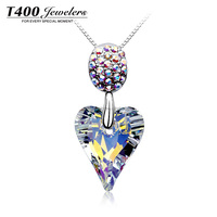 T400 Fashion Pendant Necklace 925 Sterling Silver and made with Swarovski elements Crystal for Women #1854
