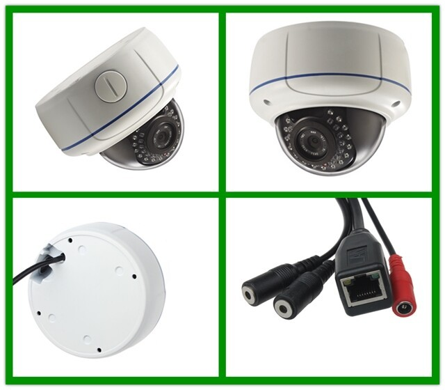 1.3M Colour Night Vision Star-light Metal Dome IP Camera With 2.8-12mm Manual Zoom lens
