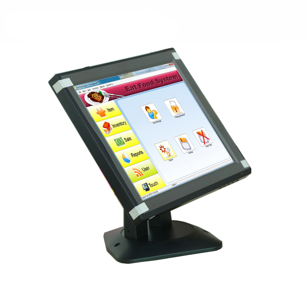 High definition 12 inch touch display 1024*768 resolution adjustable base monitor screen with touch