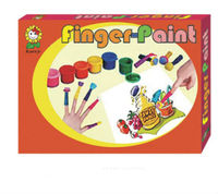 washable fingerpaint set with painting pigments+sponge+box