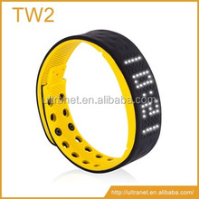 best fitness bracelet silicone wristband watch pedometer with accelerometer TW2