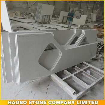 Haobo white quartz countertop/ vanity top