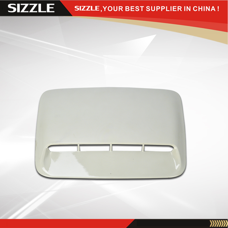 ABS Car Hood Scoop Vent Black/White For Toyota Hilux VIGO 2012-2014
