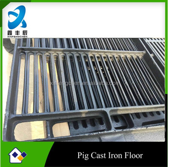 poultry equipment casting iron floor