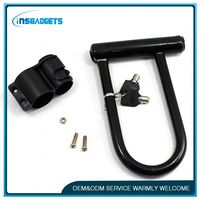 H0T281 Best Seller Motorcycle U Lock Anti-theft D Lock for Bicycle Motorcycle E Bike Folding Bike