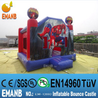 499 USD spiderman inflatable bounce house, inflatable jumping castle,cheap inflatable bouncers for sale